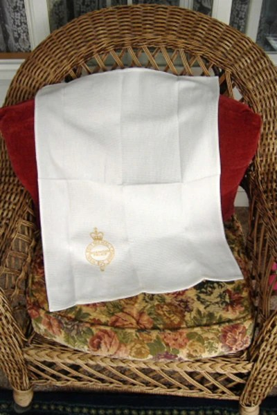 Tea Towel Buckingham Palace London Gold Royal Crest Waffle