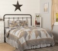 Dakota Star Farmhouse Blue Quilt Retro Barn Country Linens