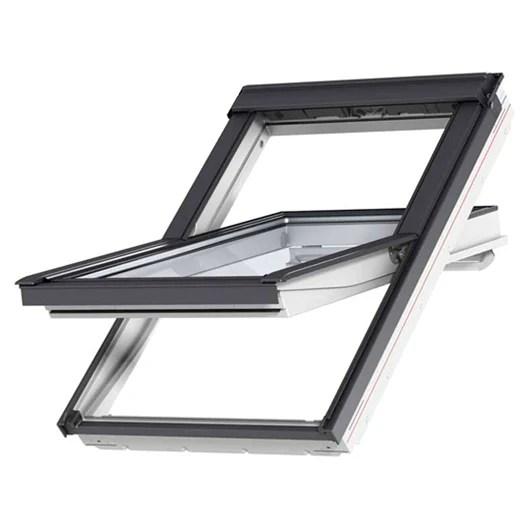 velux ggl sk06 2070 white painted centre pivot window 114 x 118 cm