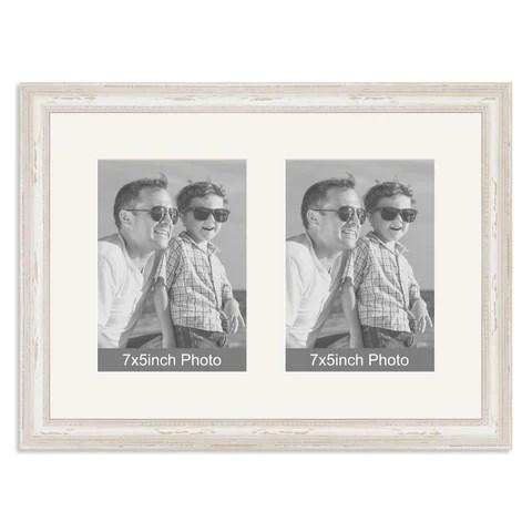 White Shabby Chic Multi Frame | Frameswalls.org