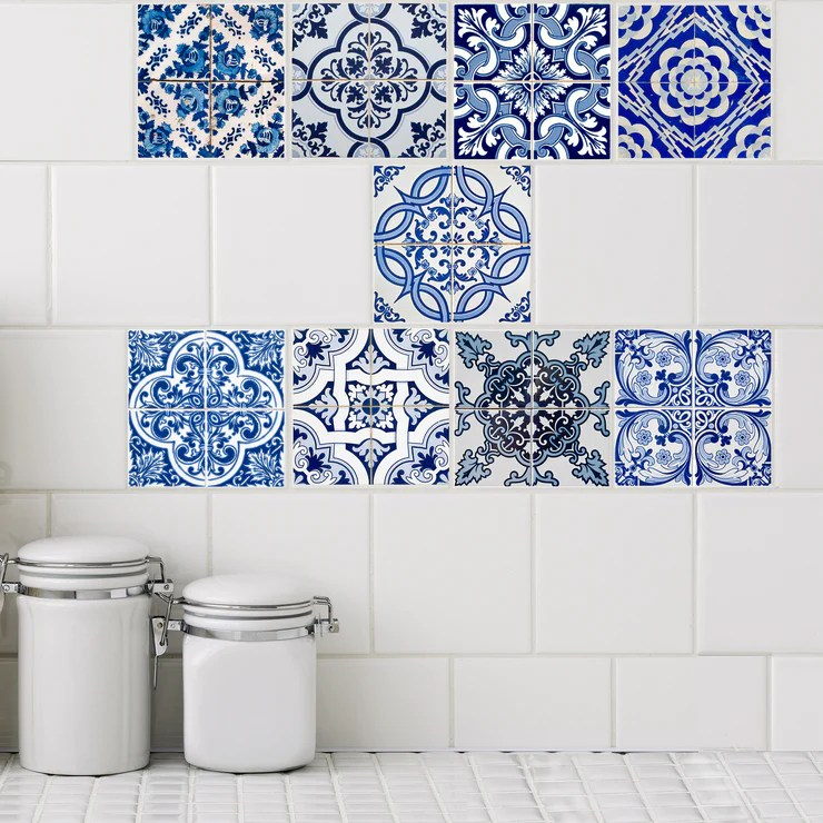 santorini azul collection tile decals