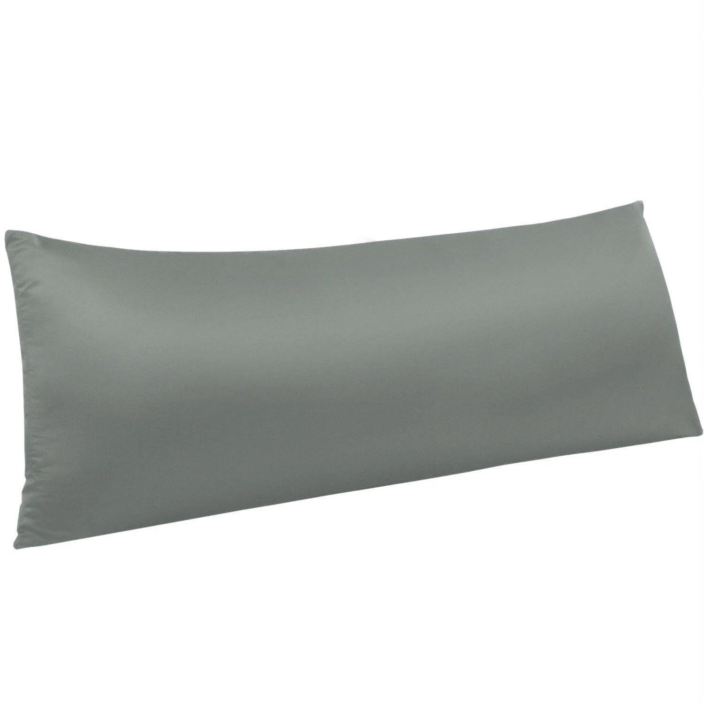 ntbay zippered satin body pillow pillowcase silky slip cooling body pillow cover long side hidden zipper 20 x 54 inches