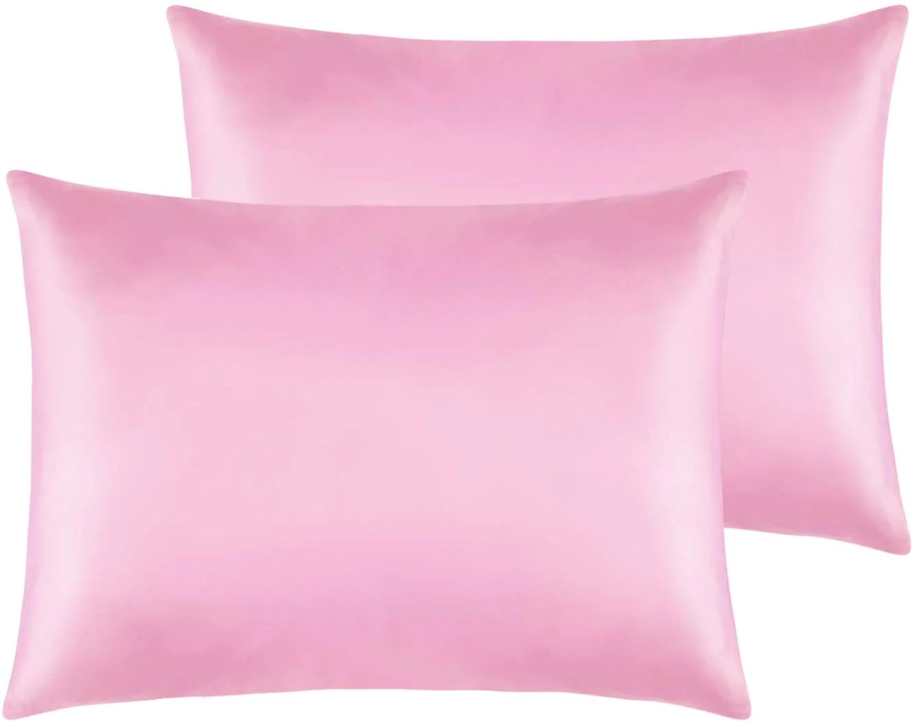 ntbay zippered satin pillow cases for hair and skin luxury hidden zipper pillowcases set of 2