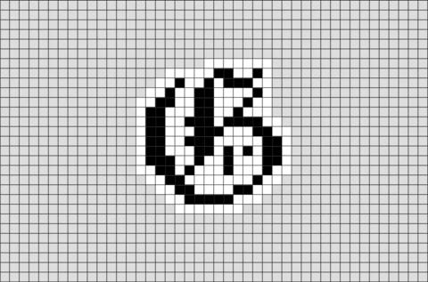 Letter G Pixel Art BRIK