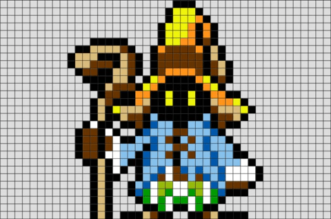 Final Fantasy Vivi Pixel Art BRIK