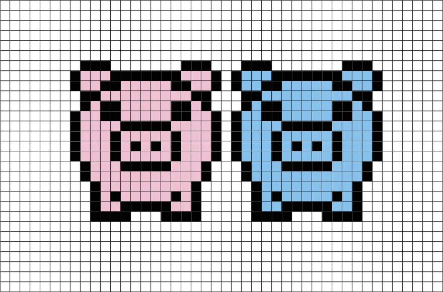 pigs-pixel-art-pixel-art-pigs-animal-piglets-cute-pixel-8bit Easy Cute Pixel Art With Grid @koolgadgetz.com.info