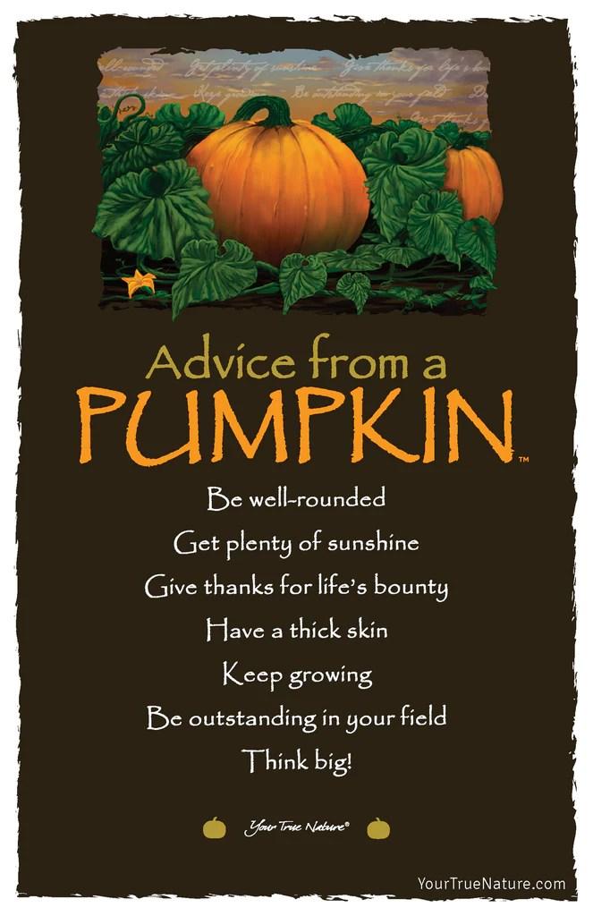 Advice From A Pumpkin Frameable Art Postcard Your True
