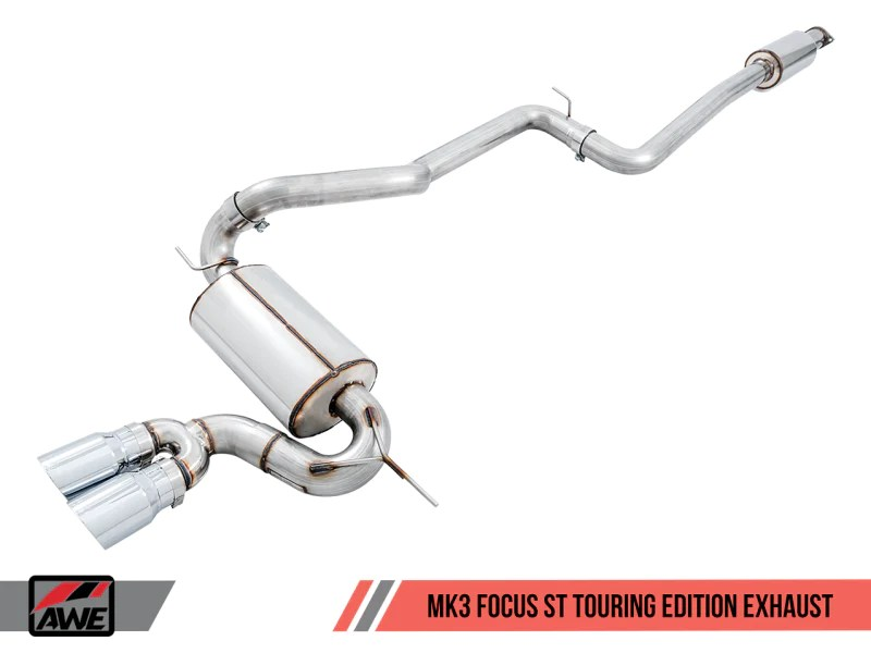 awe tuning ford focus st touring edition cat back exhaust