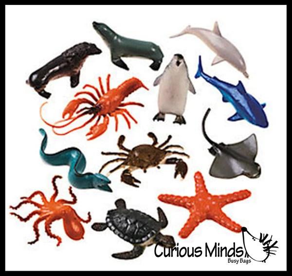 Ocean Sea Life Animal Figurines Mini Animal Action