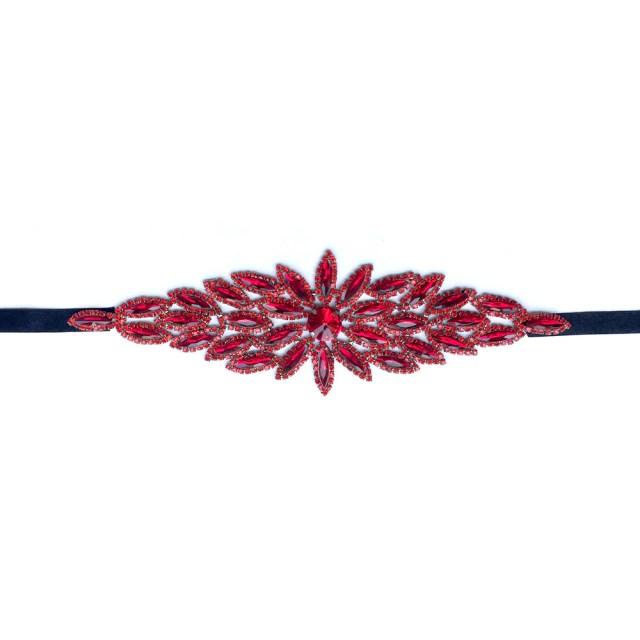 leaf hair accessories, red wedding hair accessories, red headband, prom hair accessories, dark blue, black
