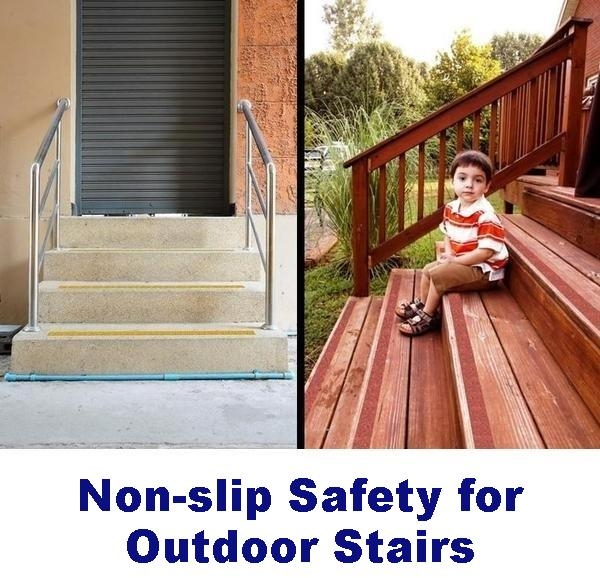 Non Slip Tape For Outdoors Wood Tile Concrete And More – No   Stair Treads For Outdoor Steps   Stone   Stair Railing   Stair Stringers   Slip Resistant   Non Slip