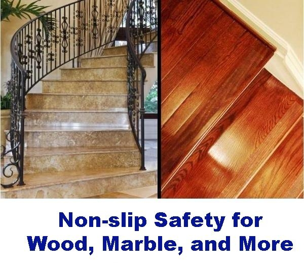 Non Slip Tape For Stairs Clear And Dog Friendly – No Slip Str*P | Stairs Covered In Wood | Round | Interior | Metal | Random | Luxury