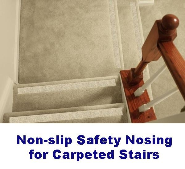 Non Slip Carpet Safety Strips For Carpeted Stairs – No Slip Str*P   Non Slip Stair Treads For Carpeted Stairs   Walmart   Skid Resistant   Basement Stairs   Indoor Stair   Slip Resistant