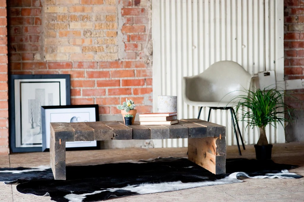 rustic modern coffee table kith kin makers