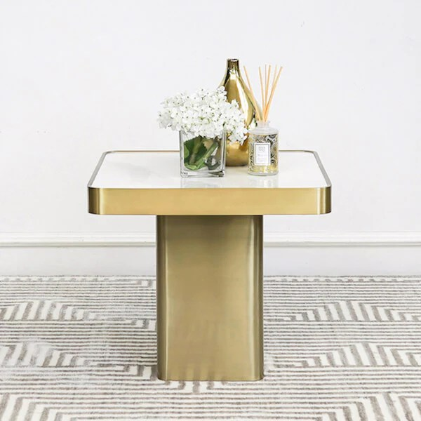 guy white marble gold coffee table square