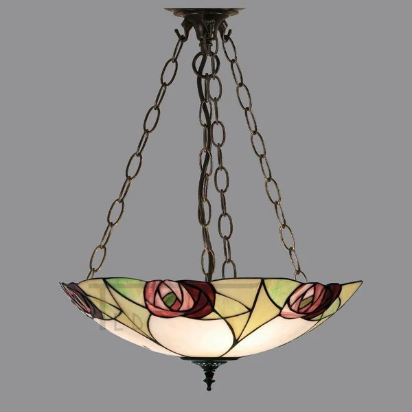 Ingram Large Inverted Tiffany Ceiling Light
