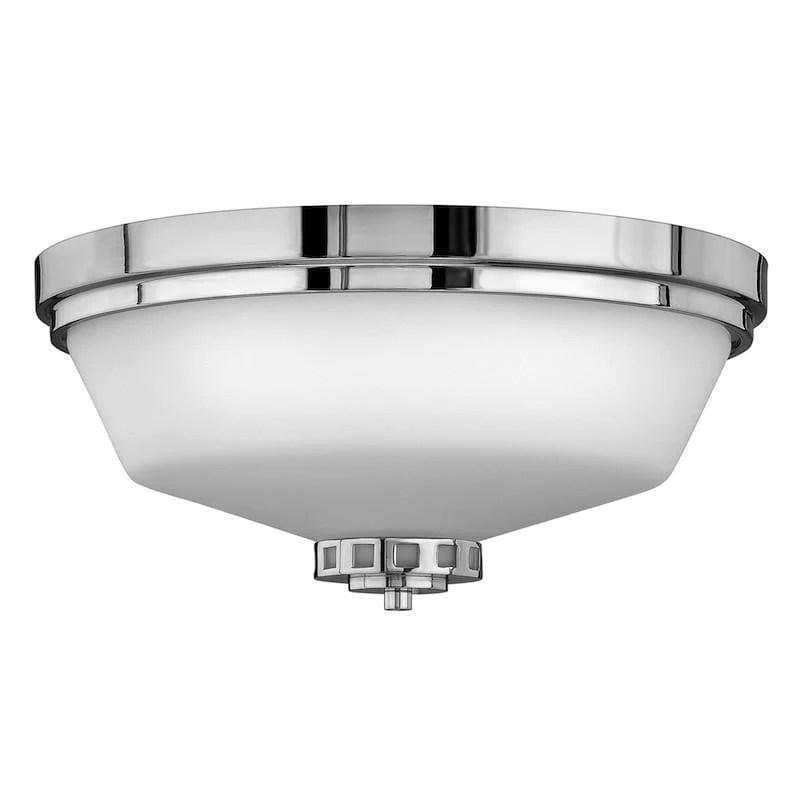 hinkley ashley flush polished chrome finish bathroom ceiling light hk ashley f bath