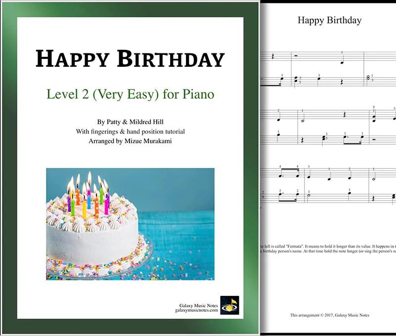 Happy Birthday Very Easy Piano Sheet Music