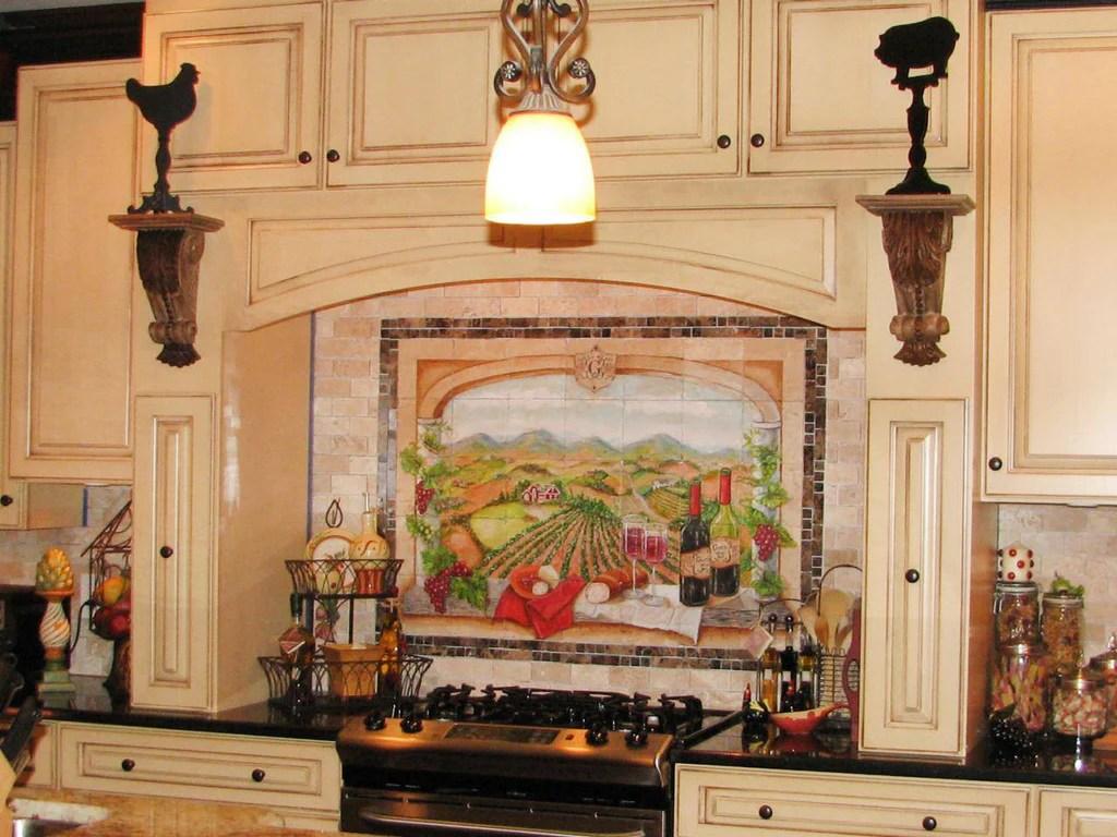 kitchen backsplash ceramic tile murals