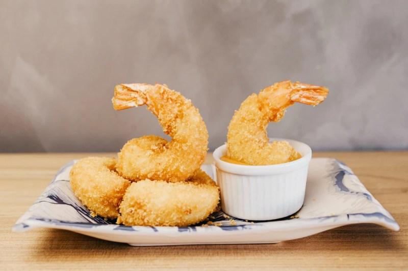 cauliflower crispy shrimp with turmeric