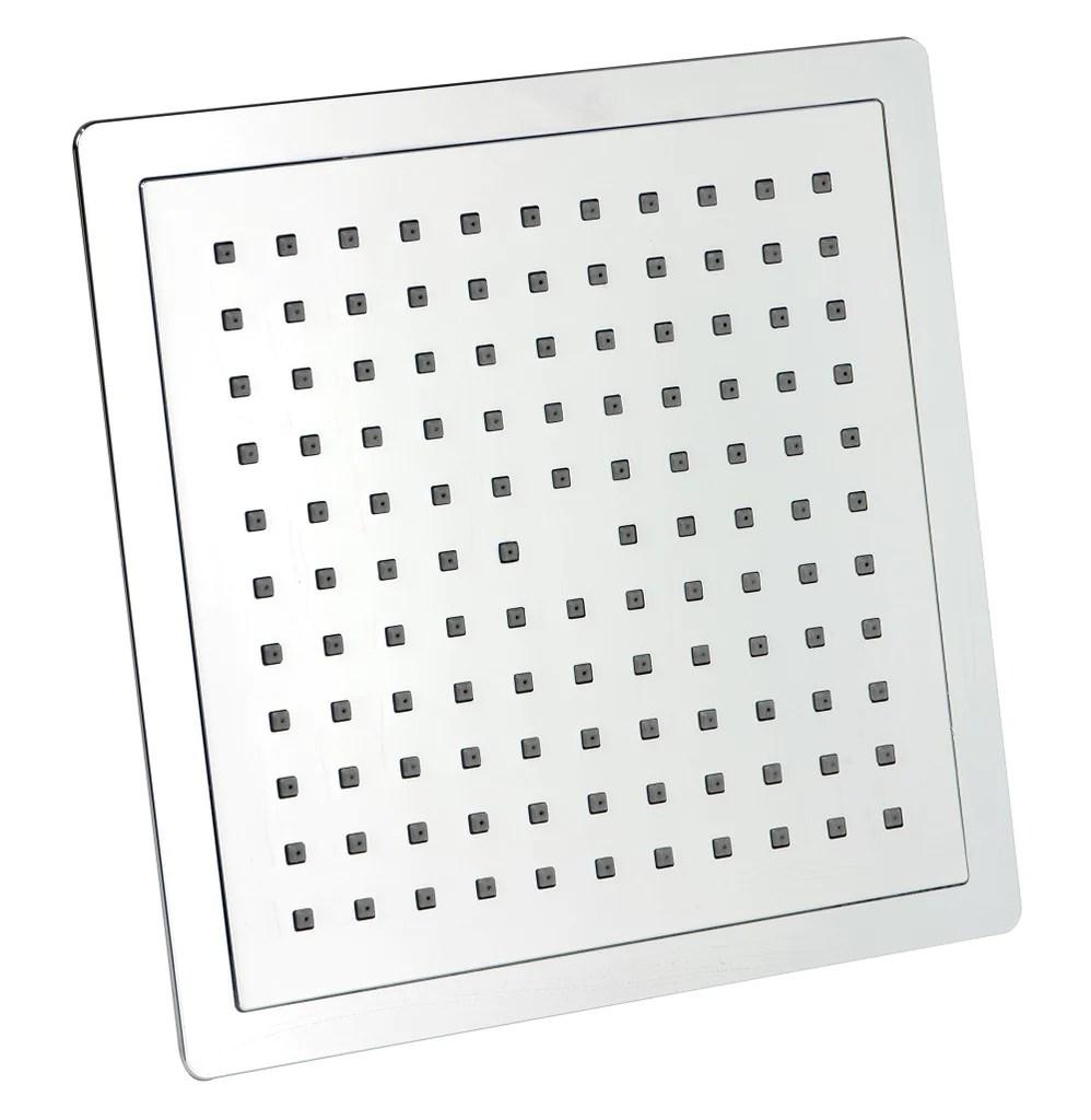 Minimalist Square S Steel Overhead Rain Shower Head 200mm