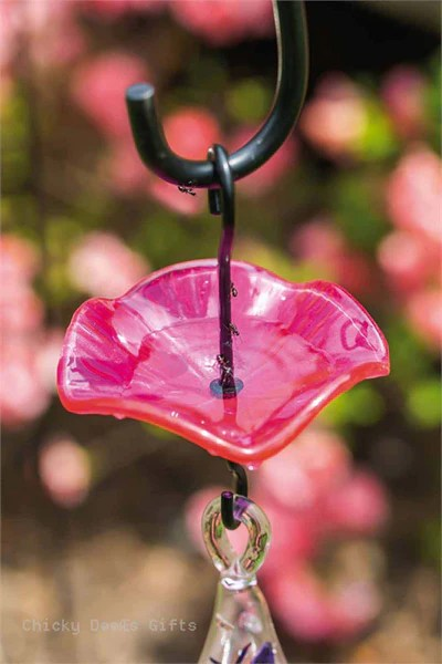 Evergreen Ant Moat For Hummingbird Feeder Wavy Glass Ant