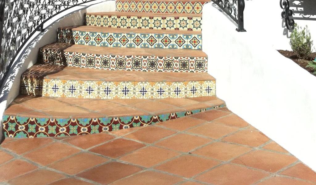 8 25 x 8 25 spanish mission red floor
