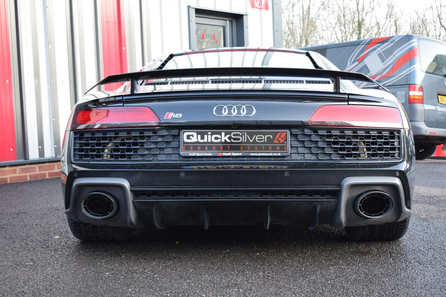 audi r8 v10 with gpfs active sport exhaust with or without gpf delete pipes 2020 on euro spec