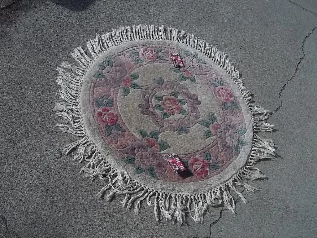 Area Rug Round 3 Feet Aubisson Beige Pink Wool 9434 Amazing Finds Red Bluff
