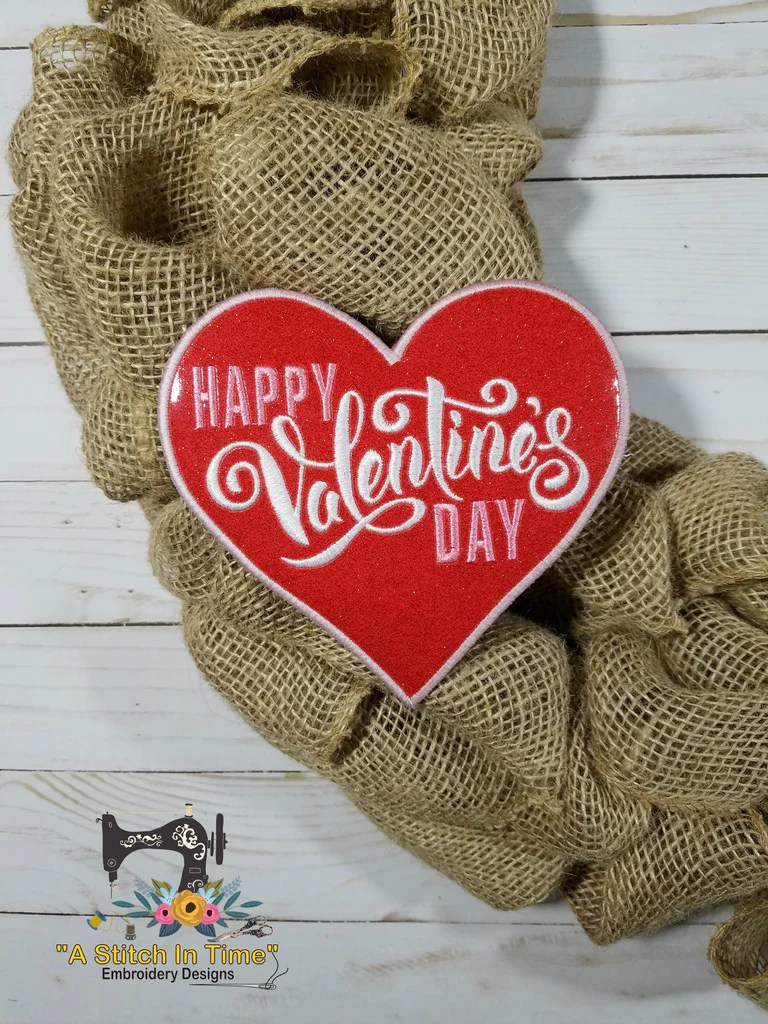 ITH Wreath Decor Valentines Day Heart 6x10 Hoops A