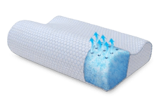 sensogel gel infused memory foam contour shape pillow
