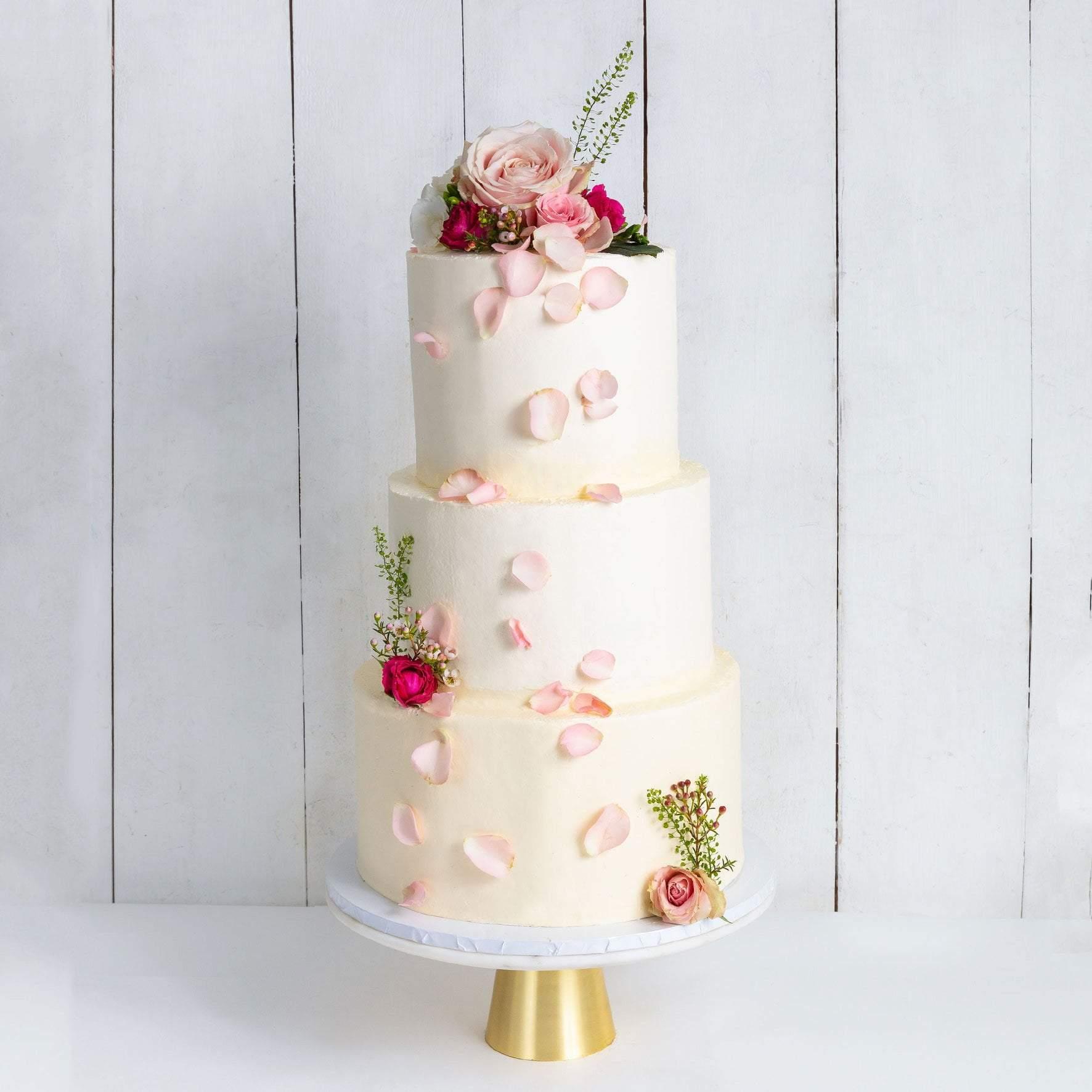 Simply White Wedding Cake