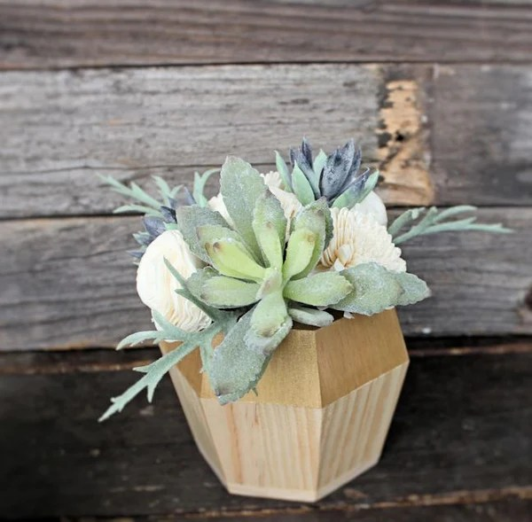 Artificial Succulent Sola Flower Arrangement Centerpiece
