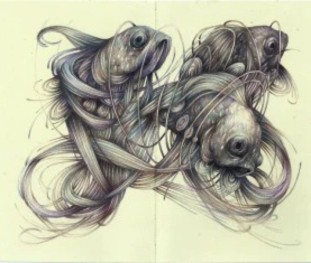 Marco Mazzoni Is An Italian Artist Who Merges Design And Botanical Elements Into Modernist Portraits With His Pencil Drawings