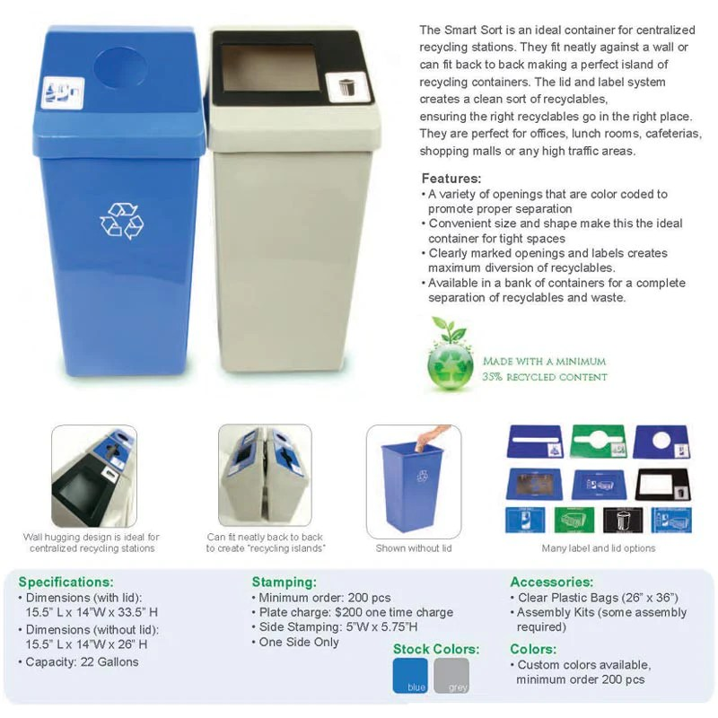 Smart Sort Indoor Recycling And Waste Collection By Busch