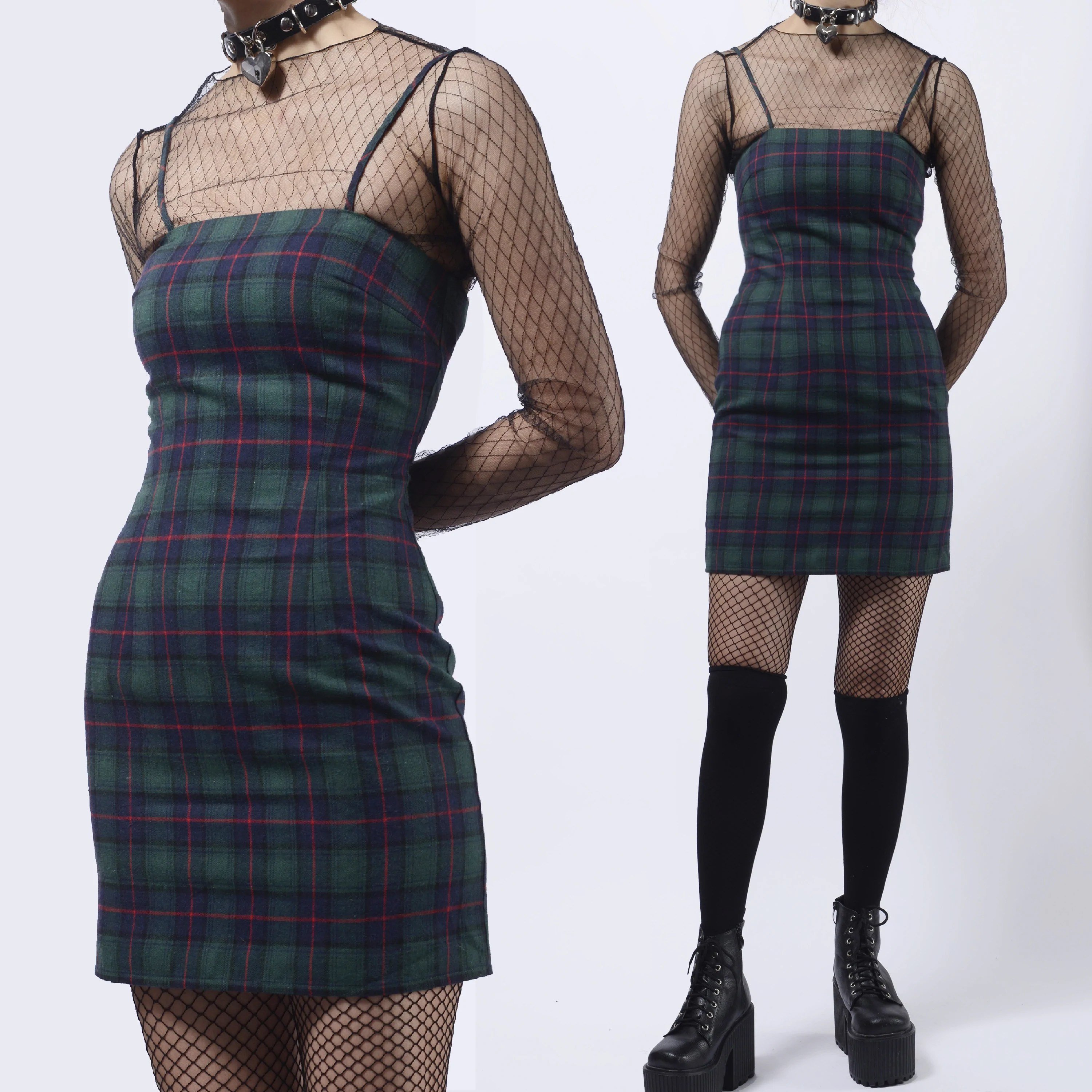 43116082d578 2019 New Limited Edition Tumblr Soft Grunge 90s Kids Green Plaid