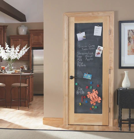 DIY Shaker Style Slab Door Kitchen Chalkboard Door To Door