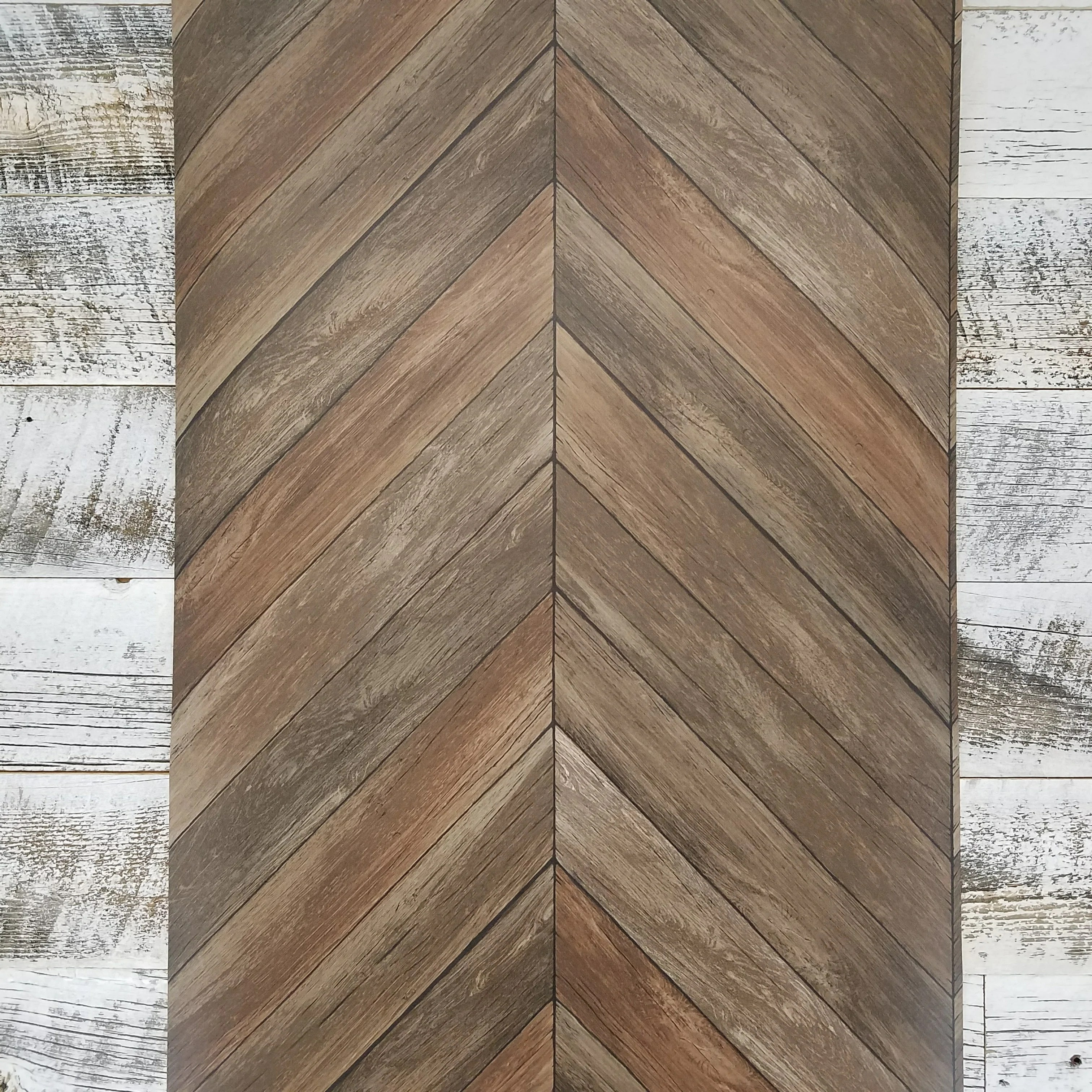 Chevron Wood Plank Parisian Brown Parquet Wallpaper D Marie Interiors
