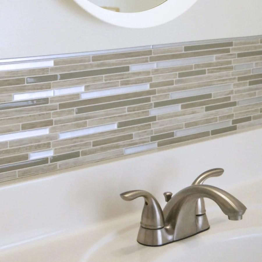 smart tiles smart edge brillo peel and stick finishing edge backsplash