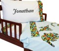 Dino Bed Set Embroidered Dinosaur Toddler Bedding Set Roomcraft