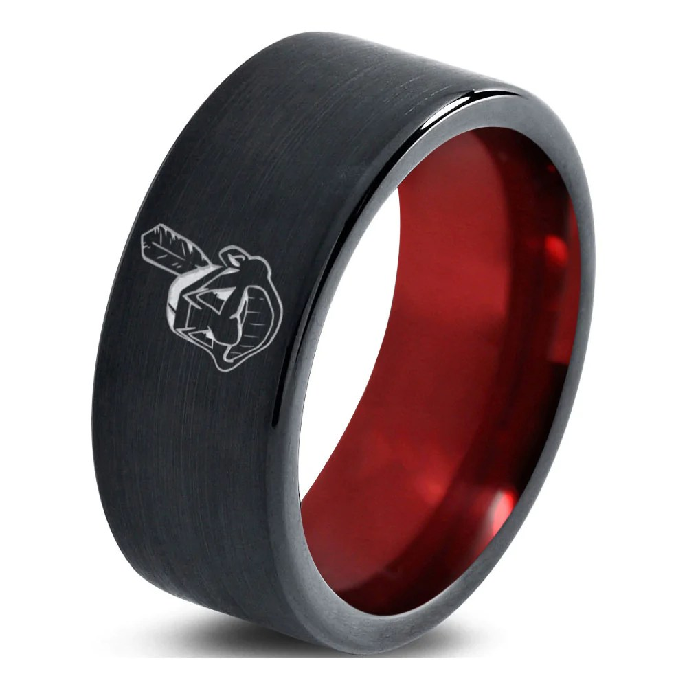 Cleveland Indians Ring Wedding Band Tungsten MLB Baseball