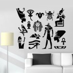 Vinyl Wall Decal Ancient Egypt Symbol Eye Pyramid Living Room Stickers Mural G1189