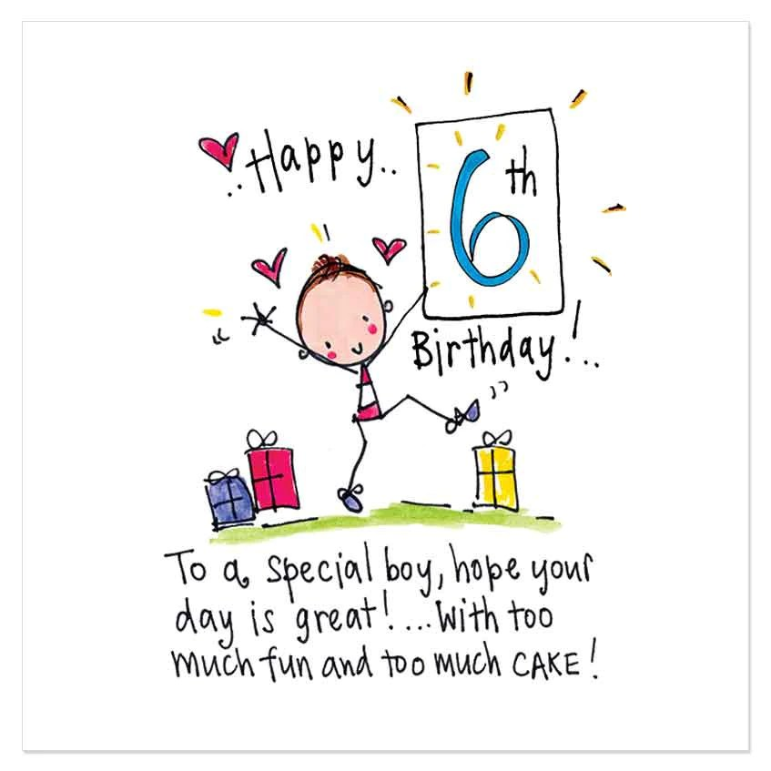 Happy 6th Birthday To A Special Boy Hope Your Day Is Great With T Juicy Lucy Designs