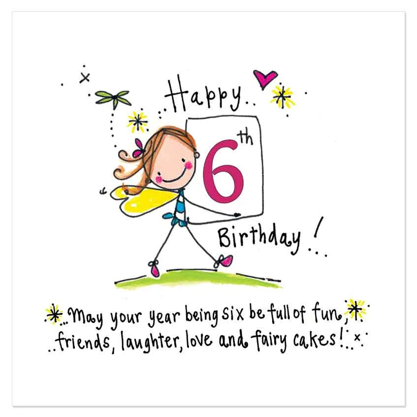 Happy 6th Birthday May Your Year Being Six Be Full Of Fun Friends L Juicy Lucy Designs