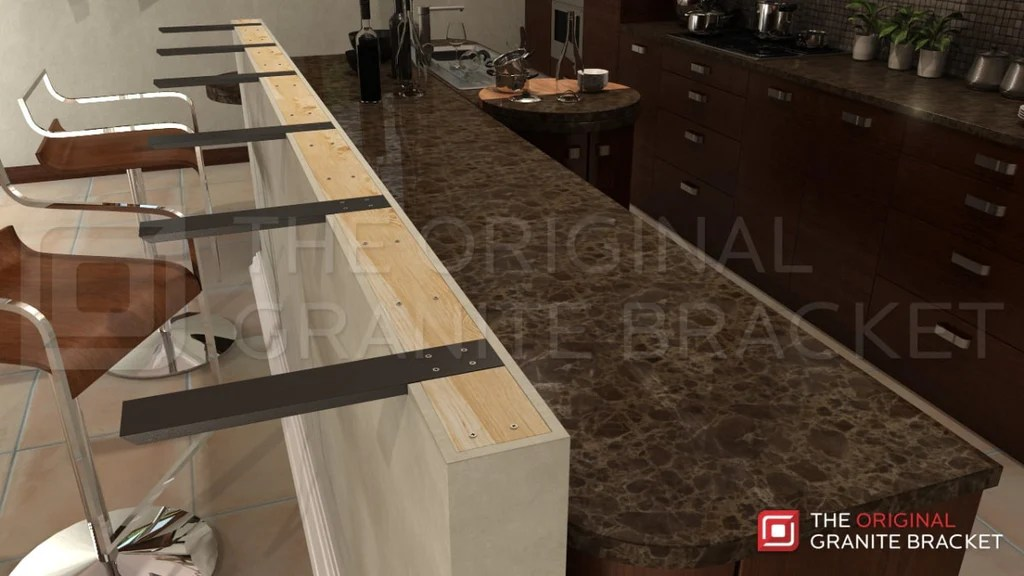 How To Install Countertop Support Brackets The Original