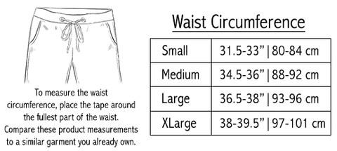 Size Chart - Sweatshorts | The Project Garments