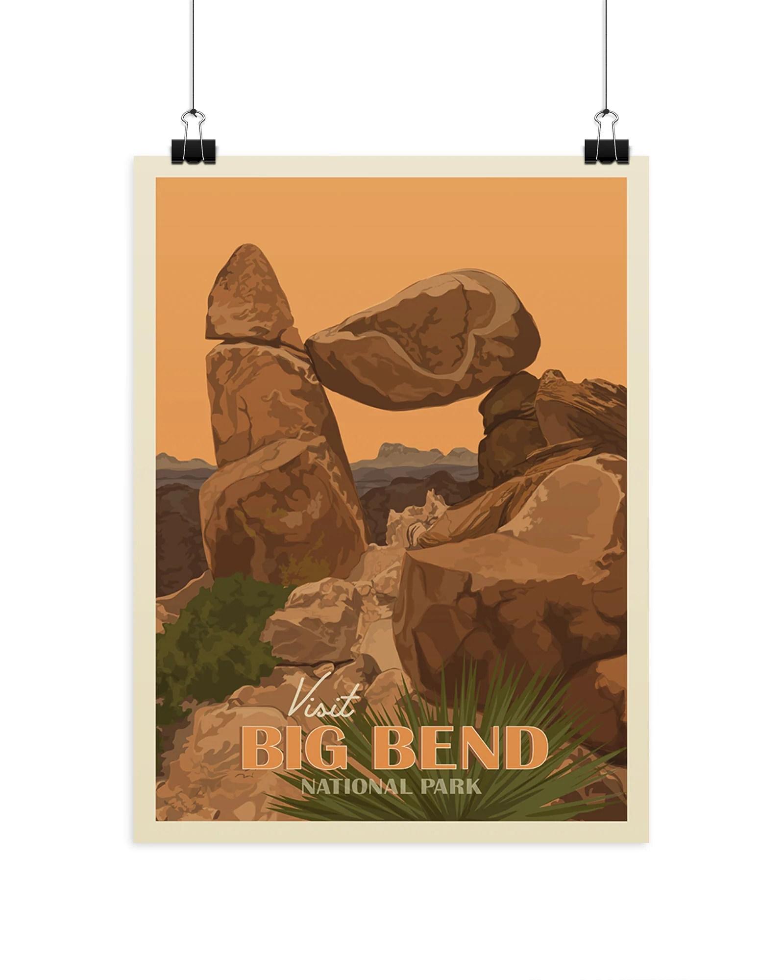 visit big bend national park poster