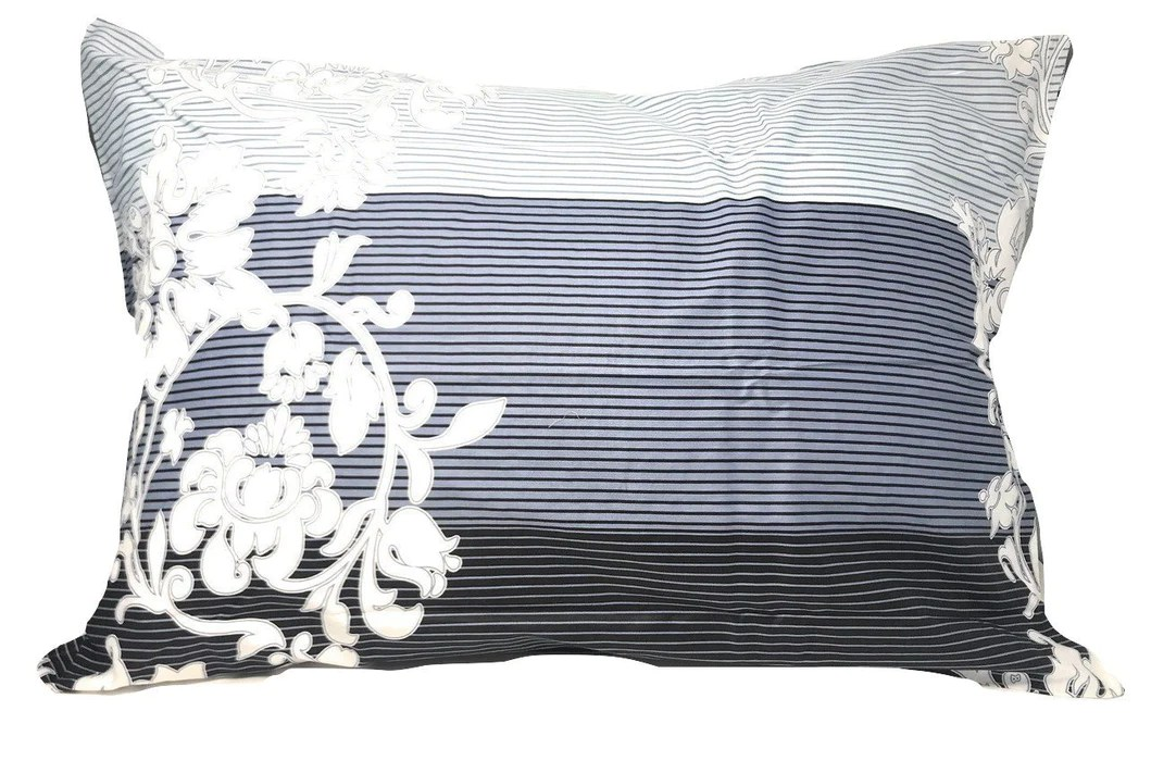 dada bedding navy blue floral striped fitted sheet pillow cases set twin size fts8153