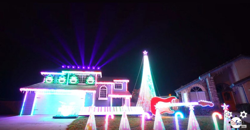 Best Star Wars Christmas Light Show Tracy, CA