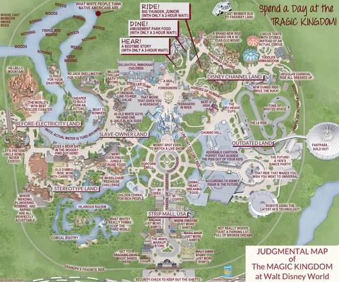 Judgmental Map Of The Magic Kingdom Walt Disney World
